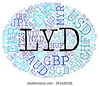 Lyd Currency Indicating Foreign Exchange