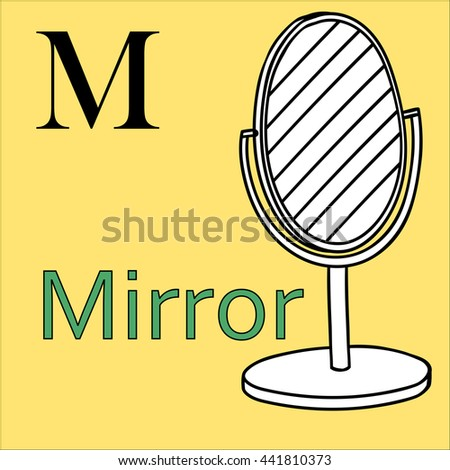 Royalty Free Stock Illustration Of M Letter Object Capital Alphabet