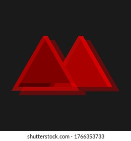 M Logo Red triangle | Inkscape