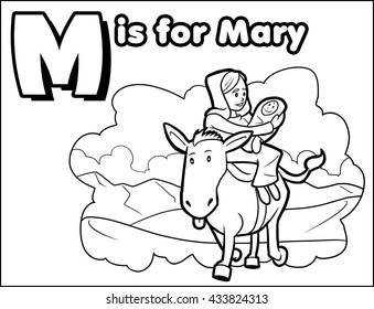 M is for Mary Coloring Activity