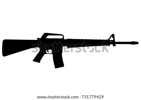 m 16 rifle vietnam war period blackのイラスト素材 731779429
