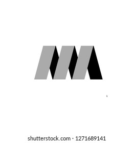 Am or ma letter design logo