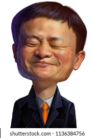 Ma Yun, known professionally as Jack Ma, is a Chinese business magnate, investor, and philanthropist.  Caricature, July,218