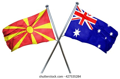 Macedonia flag  combined with australian flag