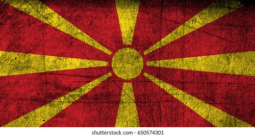 Macedonia flag grunge background. Background for design in country flag