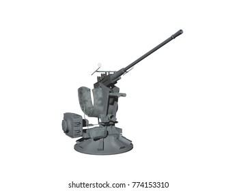 machine gun 3D rendering