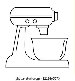 Machine mixer icon. Outline machine mixer icon for web design isolated on white background