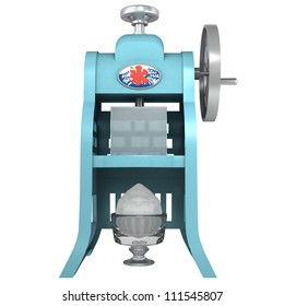 The machine of the shaved ice