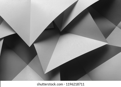 Macro image of composition with bright geometric shapes, 3d illustration