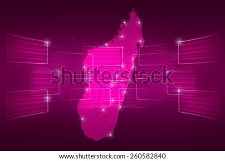 Madagascar Map World Map News Communication Stock Illustration ...