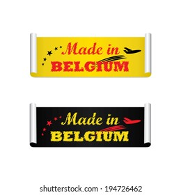 Made in Belgium label, tag and sticker - jpg.