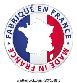 Made in France. Product label.