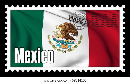 Made in Mexico original stamp