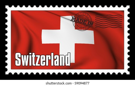 Made in Switzerland original stamp