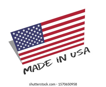 made in USA with american flag