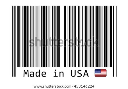 Label Usa Shutterstock - Stock Made Barcode 453146224 Illustration