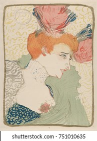 Mademoiselle Marcelle Lender, by Henri de Toulouse-Lautrec, 1895, French Post-Impressionist print. The French singer and dancer was a favorite of the artist who featured her in 12 lithographs