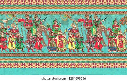 madhubani figure design