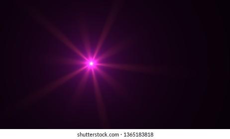 magenta lens flare