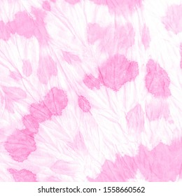 Magenta Splash Pattern .Watercolor Tie Dye. Dyed Messy Texture. Splash Pattern .Fuchsia Tie Dye Brush Washes. Pink Grungy Decorate Paper. Modern Watercolour Cloth.