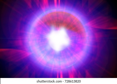 Magic Ball Of Energy, Purple And White Glow In The Center, Red And  Ultraviolet Design Ideas
