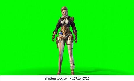 Magic Beautiful Woman 3d render