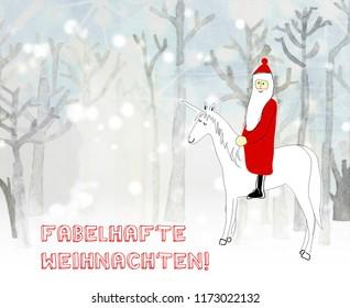 Magic Christmas in german language