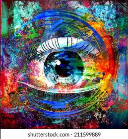 Magic eye background illustration