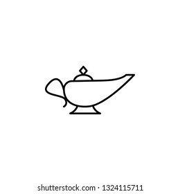 magic lamp, miscellaneous outline icon. Signs and symbols can be used for web, logo, mobile app, UI, UX