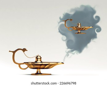 (magic) lamp and wishes