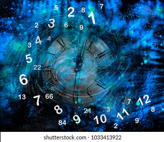 Magic numerology, figures in space