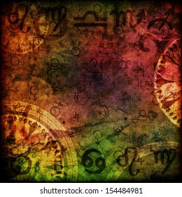 magic signs astrology background illustration