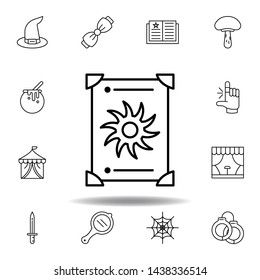magic tarot outline icon. elements of magic illustration line icon. signs, symbols can be used for web, logo, mobile app, UI, UX
