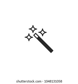 magic wand icon. sign design