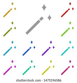 magic wand multi color icon. Simple glyph, flat illustration of web icons for UI and UX, website or mobile application