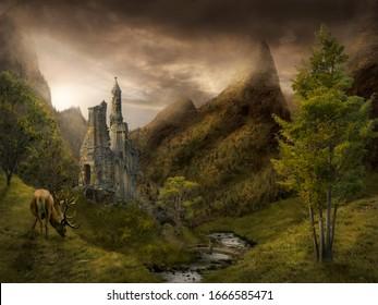 magical place fantasy place digital art