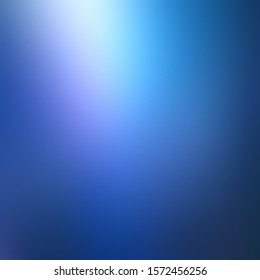 Magical shiny from top on deep blue blur background. Secret abstract illustration.