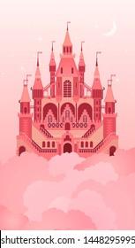 Magical sweet kingdom on clouds