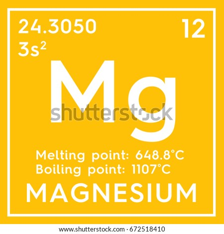 Magnesium Alkaline Earth Metals Chemical Element Stock Illustration