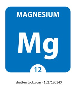 Magnesium Chemical 12 element of periodic table. Molecule And Communication Background. Magnesium Chemical Mg, laboratory and science background. Essential chemical minerals and micro elements
