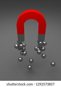 magnet, 3d illustration