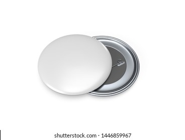 Magnet Button badge realistic 3D Mockup White