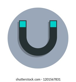 magnet icon in badge style. One of web collection icon can be used for UI, UX