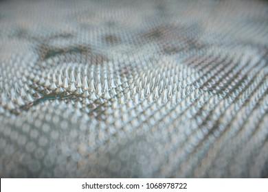 Magnetic fluid. Close-up. 3d rendering