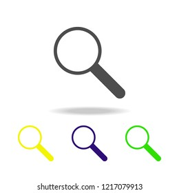 magnifier multicolor icon. Element of web icons.  Signs and symbols icon for websites, web design, mobile app on white background with shadow