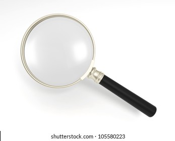 magnifier/A gold magnifying glass