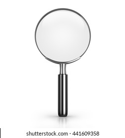 Magnifying glass. 3D rendering