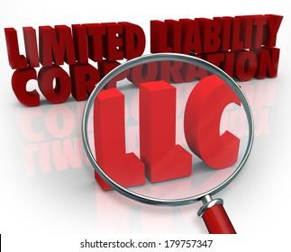 Magnifying Glass Acronym LLC Finding Help Advice