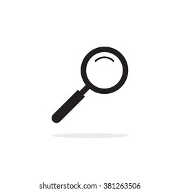 Magnifying glass icon, magnifier zoom, magnify icon, concept of search icon, research logo idea, exploring emblem, investigation symbol, outline linear simple flat pictogram isolated on white image