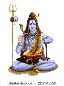 maha shivaratri lord god festival hinduism traditional spiritual illustration